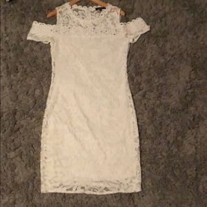 White off the shoulder Body Con Dress